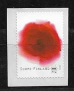 FINLAND 2009 ROSE FLOWER SELF ADHESIVE  MNH - Finlande
