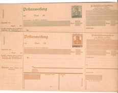 2 Mandats Postaux Neufs (Postanweisung)  Sur Germania 25 Pf Et 40Pf Surchargés SAARGEBIET - Entiers Postaux