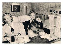 CPSM AVIATION AIR FRANCE Le Déjeuner à Bord Du Dewoitine 338 Long Courrier - 1946-....: Moderne