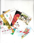 Lot De 8 Petits Calendriers Des Années 1990 à 2003 Provenants Du Tarn - Calendars