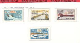 """FL3205 - REPUBBLICA - """"Giochi Olimpici Invernali Di Cortina"""" Serie Di 4 Valori Nuovi**, 1956 - 1946-60: Nuovi"""