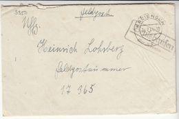 """Feldpostbrief  Nr.17365, Landpoststempel """"Beulshausen über Kreiensen"""" Inhalt - Besetzungen 1938-45"""