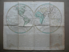 Mappemonde Historique Mappamondo Geografia Viaggi Impr. Didot 1808 Navigatori - Altri