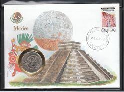 Mexiko, Numisbrief,  Kaktus Opuntia Sp.  / Mexico, Numismatic Cover, Cactus Opuntia Sp. - Sukkulenten