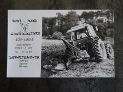 83  LE LUC  ROUTE DE TOULON   AGRI VAROIS    TRACTEUR LABOUR - Publicités