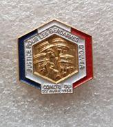 """Pin's GENDARMERIE  """" OUVEA  Comité Du 22 Avril 1988 """" - Militaria"""