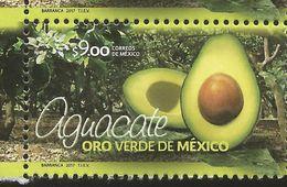 RJ) 2017 MEXICO, AVOCADO, GREEN GOLD OF MEXICO, MNH - Mexiko