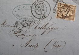 LOT R1593/4 - CERES N°38 (LSC) AGEN (Lot Et Garonne) GC -12-  > AUCH (Gers) - 1870 Siège De Paris