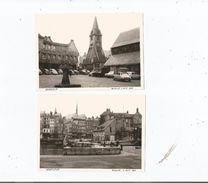 HONFLEUR (CALVADOS) 2 PHOTOS TIREES D'UN ALBUM 1964(HOSTELLERIE LE CHAT AUTOS DONT DS COCCINELLE 2 CV EGLISE PORT) - Orte