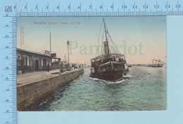 Gibraltar Europe - Algeciras Steamer & Pier / Ferrary & Romeo # 29 - Postcard Carte Postale - Gibraltar