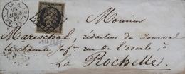 LOT R1593/7 - CERES N°3b Sur Chamois (LSC Signée Par Un Experts) PARIS (Seine)  > LA ROCHELLE - Cote : 625,00 € - 1849-1850 Ceres
