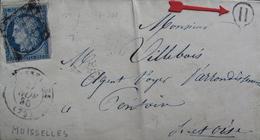 """LOT R1593/8 - CERES N°4 (LAC)  MOISSELLES Cachet Rural """" H """" > PARIS > PONTOISE - 1849-1850 Ceres"""