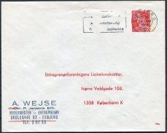 1968 Denmark Private Stationery Cover 196x Licitationskonter Esbjerg - Postal Stationery
