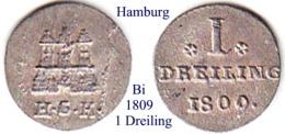 DL-1809, 1 Dreiling, Hamburg - Piccole Monete & Altre Suddivisioni