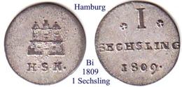 DL-1809, 1 Sechsling, Hamburg - [ 1] …-1871 : Stati Tedeschi