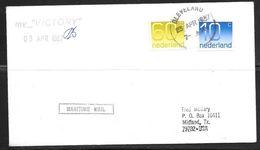 1987 Maritime Mail Cancel, Netherlands Stamps Mailed In Cleveland UK (23 APR) - 1952-.... (Elizabeth II)