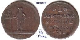 DL-1788, 1 Pfennig, Hannover - [ 1] …-1871 : Stati Tedeschi