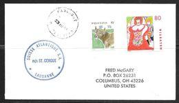 1995 Paquebot Cover, Swiss Stamps Used In Trinidad (23 AU 95) - Trinidad & Tobago (1962-...)
