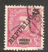 005755 Lourenco Marques 1911 25 Reis FU - Lourenco Marques