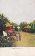 Philippines Cebu San Nichola Street Scene 1910 - Philippines