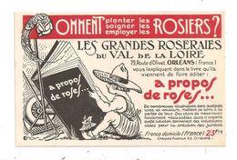 Les Grandes Roseraies Du Val De La Loire-Orléans- PUB(C.1150) - Werbepostkarten