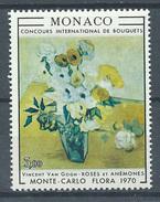 Monaco YT N°817 Concours International De Bouquets Vincent Van Gogh Neuf ** - Neufs
