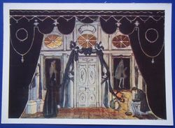 """12663 A.Golovin. Hall Of Mouring. Sketch Of The Decorfor Lermontov's Drama """"Masquerade"""" - Paintings"""