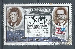 Monaco YT N°829 Apollo XI Oblitéré ° - Oblitérés