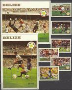 Soccer Football Belize #688/93 + Bl 55/6 1982 World Cup Spain MNH ** - Coupe Du Monde