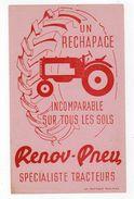 Sept17  79508    Buvard     Renov Pneu  Spécial Tracteurs - Automotive
