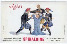 Sept17  79504    Buvard    Spiralgine  Laboratoir Servier Orléans - Produits Pharmaceutiques