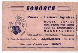 Sept17  79502    Buvard      Sonorca  Pneu  Alençon - Automotive