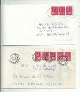 2 L Affranchies Avec BEQUET.....usages Tardifs..........à Voir. - 1971-76 Marianne Of Béquet