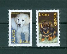 Aland. Dogs 2001. Complete Set. Mnh. - Aland