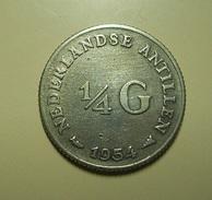 Netherland Antilles 1/4 Gulden 1954 Silver - Netherland Antilles