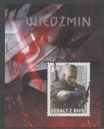 POLAND , 2016, MNH, THE WITCHER, GAMES, S/SHEET - Jeux