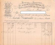 """06620 """"FILATI DI LANA, COTONE E LINO - DITTA ASSOM DOMENICO - TORINO"""" DOC. SU CARTA INTESTATA ORIGINALE - 1905 - Italia"""