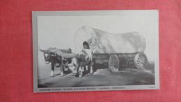 Oxen Covered Wagon Kearney Nebraska  Ref 2704 - Cartoline