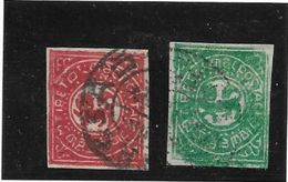 TIBET AN 1913 PAPIER INDIGENE GRIS YVERT TELLIER NRS. 12 ET 15 OBLITERES SUPERBES AVEC 3 CERTIFICATIONS D'EXPERTS AU DOS - Postzegels