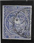 ECUADOR EQUATEUR ANS 1865-1872 YVERT NR. 1 OUTREMER AVEC 2 CERTIFICATIONS D'EXPERTS AU DOS SUPERBE - Equateur