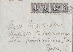 HEIMAT ST.GALLEN - 1943 Städt.Polizeidirektion Abgabestelle Rationierungskarten SBK-2x258 - Schweiz