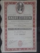 ANDRE CITROEN          AUTOMOBILES - Automobile