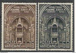 Vaticano 0287/288 ** MNH. 1960 - Vaticano (Ciudad Del)