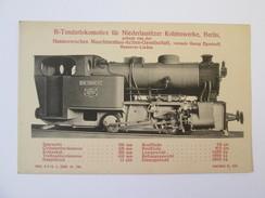 1914 German Locomotive/Hanomag Nr.225 Unused Postcard - Trains