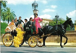 Tarjeta Postal. Espana Carreta. Postcard People Dresses, Horse Drawn Carriage. 0093170930 - Costumes