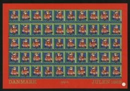 Denmark.  Christmas Sheet MNH 1968 Imperforated. Santa. - Unclassified