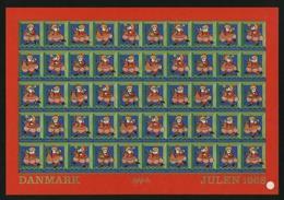Denmark.  Christmas Sheet MNH 1968 Imperforated. Santa. - Denmark