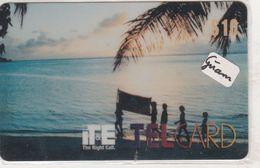 Guam - GU-ITE-TEL-0007, Kids At The Beach In Sunset, 10$, Mint - Guam