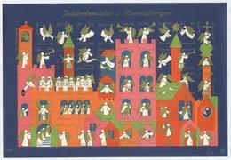 Denmark  Christmas Sheet MNH 1970. Imperforated. Angels - Denmark