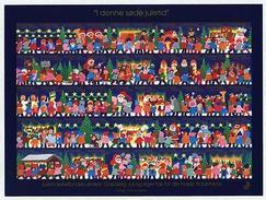 Denmark  Christmas Sheet Mnh. 2002  Imperforated.  Santa, Snowman, Dog,Children. - Denmark